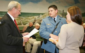 Eric Heisman receives his oath